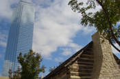 The first home built in Dallas and the tallest building
